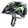 Uvex Kask rowerowy Uvex Quatro Junior fekete-zöld