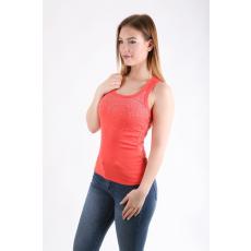 Impresszió Narancssárga köves csipkehátú bordás trikó