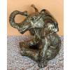 Elefánt-ülő/antik arany