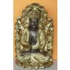 Buddha-thai-tanító lótuszvirágon/bronz-arany