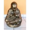 Buddha-tibeti-meditáló szerzetes/antik arany