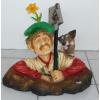 Kertész - ásóval, kutyával
