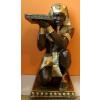 Fáraó-90cm-térdelő-tálcával/bronz-arany