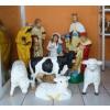 Betlehem-90cm/10 figurával/3 birkával-tehénnel