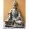 Buddha-thai-lótuszülésben/73 cm/antik arany