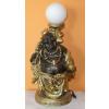 Buddha-kínai-vándor lámpával/bronz-arany