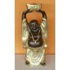 Buddha-kínai-feje fölött hajó/40 cm/bronz-arany