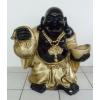 Buddha-kínai-álló/75 cm/fekete-arany