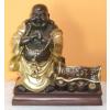 Buddha-kínai-ceruzatartó/bronz-arany-réz