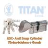 Titan K5 ASC zárbetét 40x40 gombos