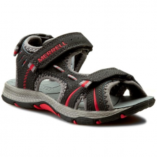 Merrell Szandál MERRELL - Panther Sandal MC53338 Black/Red