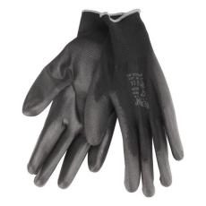 EXTOL PREMIUM EXTOL Kötött kesztyű fekete poliészter, méret: 10' poliuretánba mártott teny. és ujjhegy., gumírozott mandzsetta