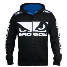 BAD BOY – WALK IN HOODIE 2.0 – PULÓVER – FEKETE/KÉK
