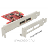 DELOCK PCI Express Card > 2 x eSATA 6 Gb/s with RAID - Low Profile Form Factor
