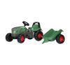 Rolly Toys Rolly Kid Fendt Vario pedálos traktor utánfutóval játszótér