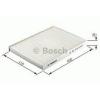 Bosch 1987432382 Aktívszenes pollenszűrő MINI I