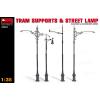 MiniArt TRAM SUPPORTS & STREET LAMP épület dioráma makett Miniart 35523