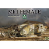 Takom WWI Heavy Battle Tank Mk.I female with anti grenade screen tank harcjármű makett Takom 2033