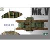 Takom WWI Heavy Battle Tank MarkV 3 in 1 tank harcjármű makett Takom 2034 makett figura
