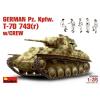 MiniArt GERMAN Pz. Kpfw. T-70 743(r) w/CREW tank harcjármű makett Miniart 35026