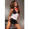 Lívia Corsetti LOIS fekete - fehér erotikus fantázia szett M