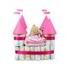 Pelenkatorta Webshop Babaváró ajándék ötlet: Pelenkatorta rózsaszín vár macival