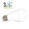 V-tac E27 LED lámpa 9 Watt (200°) - Körte hideg fehér Smart DIM