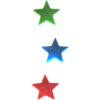 Fényes csillag mintáju konfettik 10g