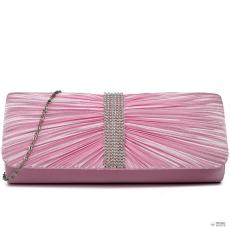 LY1683 - Miss Lulu London Ruched gyémánt pöttyded estélyi Táska Clutch táska rózsaszín