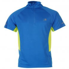 Karrimor férfi futópóló - Zipped Short Sleeved T Shirt