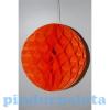 Dekor lampion labda papír 20cm narancssárga SSS