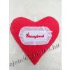 Piros pöttyös szív párna 30 cm hímzett ÉDESANYÁMNAK felirattal
