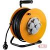 HOME HJR 10-50 Kábeldob, 50 m gumírozott vezetékkel, kültérre