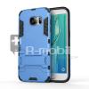 Samsung Galaxy S7 Edge Tok Ütésálló Kivitel Dual Layer - Szilikon/Műanyag Kitámasztható Világoskék
