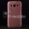 Samsung Galaxy Core Prime Szálcsiszolt Szilikon Tok Rózsaszín