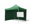 Összecsukható kerti parti sátor Profi –zöld, 3 x 3 m + 4 oldalfallal party kellék