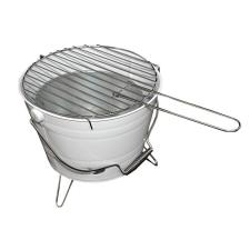 OEM Mini BBQ vödör grill - fehér kerti sütés és főzés