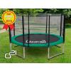 OEM G21 trambulín biztonsági hálóval - 305 cm, zöld