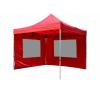 Összecsukható kerti parti sátor Profi – piros, 3 x 3 m + 2 oldalfallal party kellék