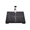 OEM Négyzet alakú Gardenay napernyőtalp, fekete márványból és rozsdamentes acélból, 25 kg