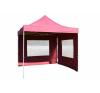 Összecsukható kerti parti sátor Profi –bordó, 3 x 3 m + 2 oldalfallal party kellék