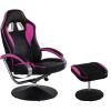 Irodai szék lábtartóval - GT RELAX RACER, rózsaszín/fekete