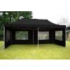 Összecsukható kerti parti sátor – 3 x 6 m fekete