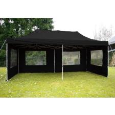 Összecsukható kerti parti sátor – 3 x 6 m fekete party kellék