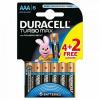 DURACELL Turbo MAX 4+2db AAA elem - DL (5000394097872)