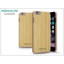 Apple iPhone 6 Plus/6S Plus hátlap - Nillkin Knights Natural - bambusz/gold tok és táska