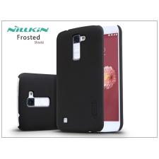 LG K10 K420N hátlap képernyővédő fóliával - Nillkin Frosted Shield - fekete tok és táska