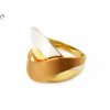 Tricolor fantázia arany gyűrű