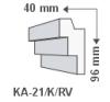 LEDvonal KA-21/K , Rejtett világítás díszléc , oldalfal villanyszerelés