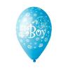 """Party lufi kék """"It""""s a boy"""" felirattal 15 db"""